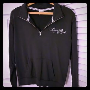 PINK Black Quarter Zip